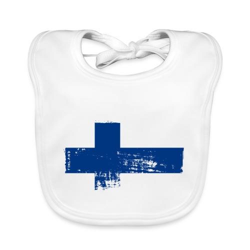 Suomen lippu, Finnish flag T-shirts 151 Products - Vauvan luomuruokalappu