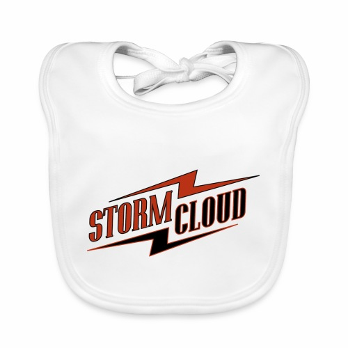 stormcloud logo print - Baby Bio-Lätzchen