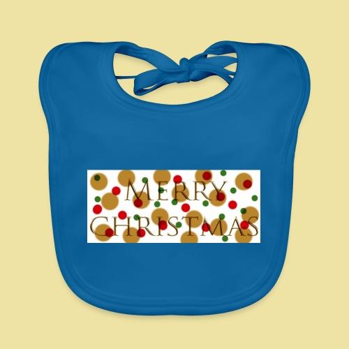 merry-christmas Logo Geschenk - Baby Bio-Lätzchen
