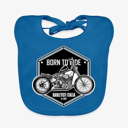 Born to Ride - Vintage motorbike - Bavaglino ecologico per neonato