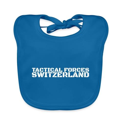 Tactical Forces Switzerland Stencil white back - Bavoir bio Bébé