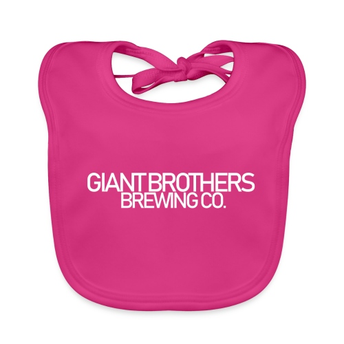 Giant Brothers Brewing co white - Ekologisk babyhaklapp