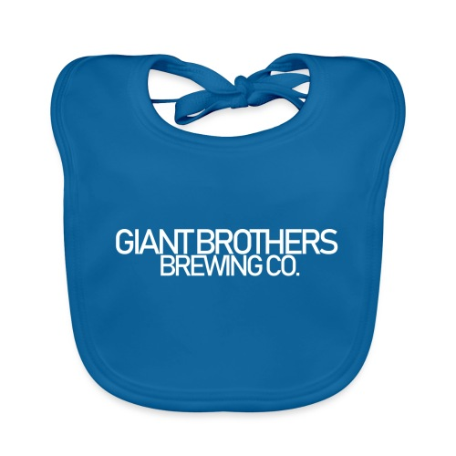 Giant Brothers Brewing co white - Ekologisk babyhaklapp