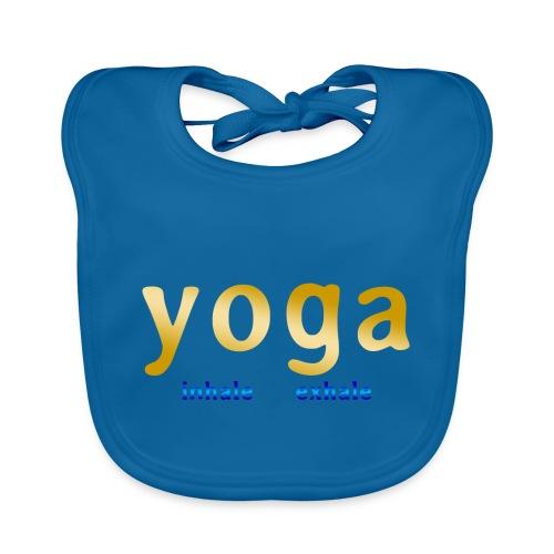 yoga inhale exhale - Baby Bio-Lätzchen