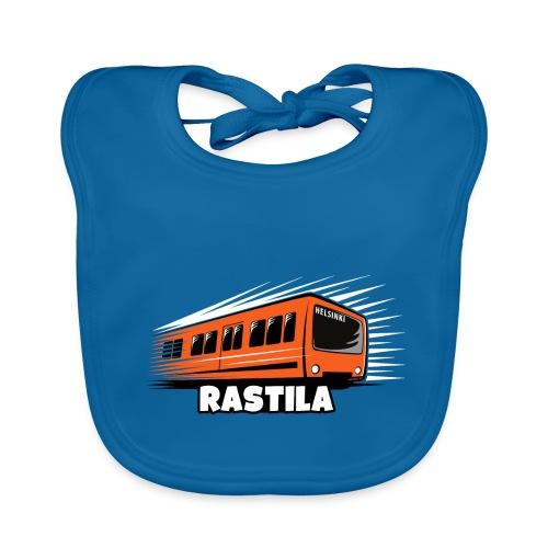 RASTILA Helsingin metro t-paidat, vaatteet, lahjat - Vauvan luomuruokalappu