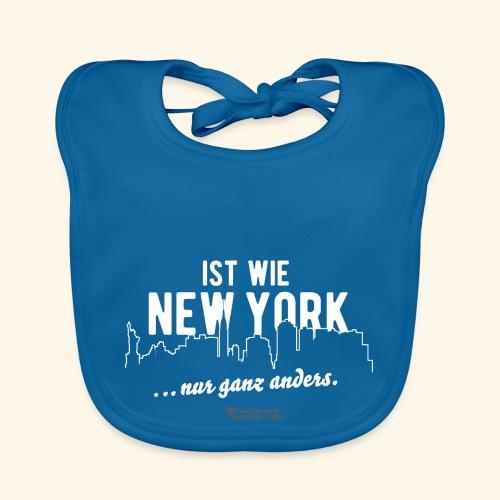 < DEINE STADT > ist wie New York Städte-T-Shirt - Baby Bio-Lätzchen