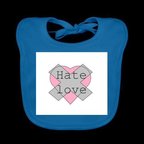 Hate love - Babero de algodón orgánico para bebés