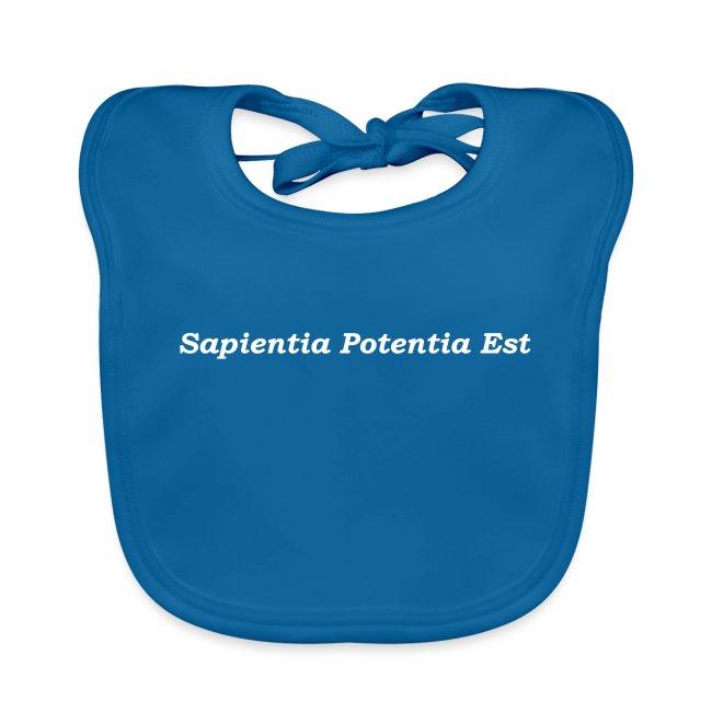 Sapientia Potentia Est - White Text