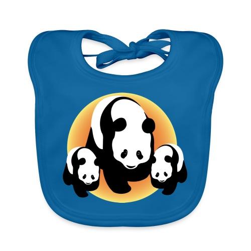 Chineese Panda's - Bio-slabbetje voor baby's