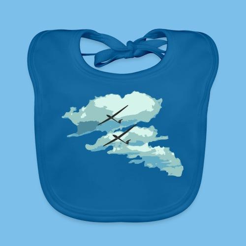 Wolken Segelflieger Geschenk Pilot Streckenflug - Baby Bio-Lätzchen