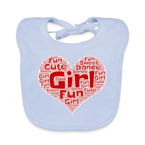 Girl heart - Bio-slabbetje voor baby's