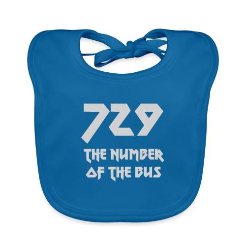 729 grande grigio - Bavaglino ecologico per neonato