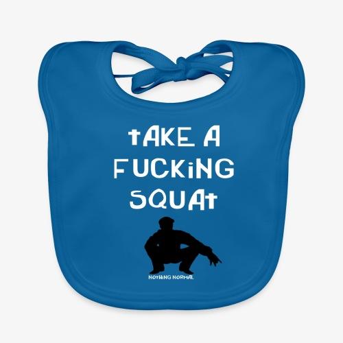 ''Take a squat'' Women's hoodie - Baby Organic Bib