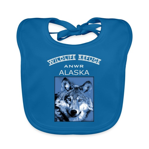 Wildlife refuge Alaska - Babero de algodón orgánico para bebés