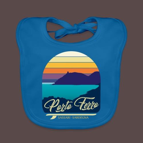 Porto Ferro - Vintage travel sunset - Bavaglino ecologico per neonato
