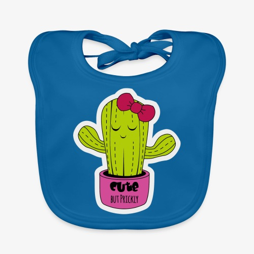 Cute Cactus Girl - Baby Bio-Lätzchen