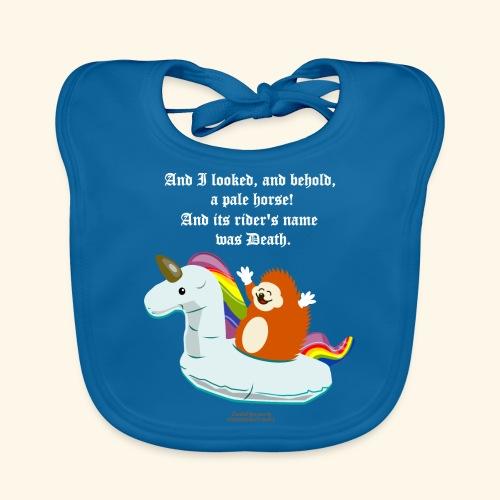 Geek T Shirt Igel, Einhorn & Johannes-Offenbarung - Baby Bio-Lätzchen