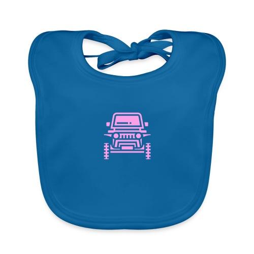 Outdoors pink car jeep - Ekologiczny śliniaczek