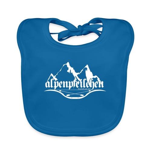 Alpenpfeilchen - Logo - white - Baby Bio-Lätzchen