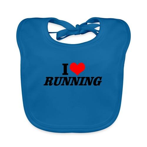 I love running - Baby Bio-Lätzchen