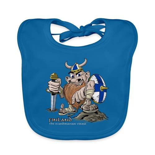 FINLAND VIKING T-paidat, tekstiilit ja lahjaideat - Vauvan luomuruokalappu