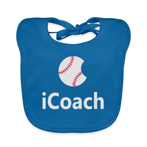 Baseball Logo iCoach - Organic Baby Bibs