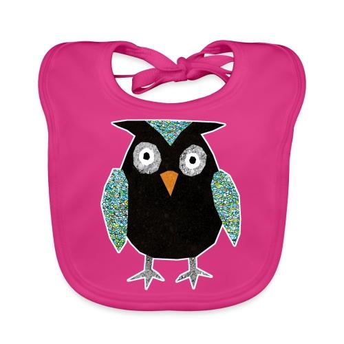 Collage mosaic owl - Organic Baby Bibs
