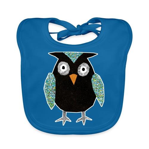 Collage mosaic owl - Baby Organic Bib