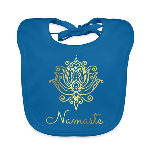 Namaste Meditation Yoga Sport Fashion - Baby Bio-Lätzchen