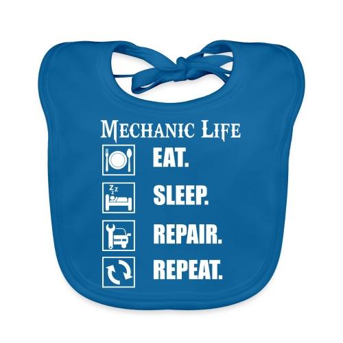 Das Leben als Mechaniker ist hart! Witziges Design - Baby Bio-Lätzchen