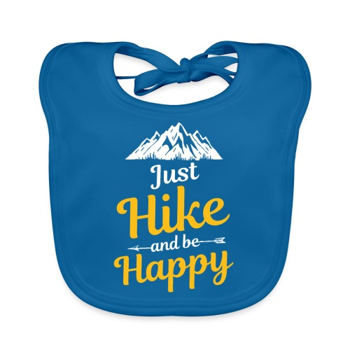 Just Hike And Be Happy Nature-Design für Hiking - Baby Bio-Lätzchen