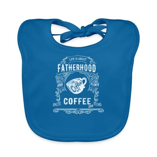 2018 Fatherhood needs Plenty Coffee - Baby Organic Bib