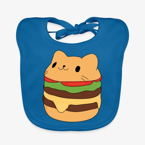 cat burger - Baby Organic Bib