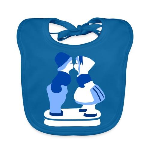 holländisches Pärchen koninginnedag t-shirt - Baby Bio-Lätzchen