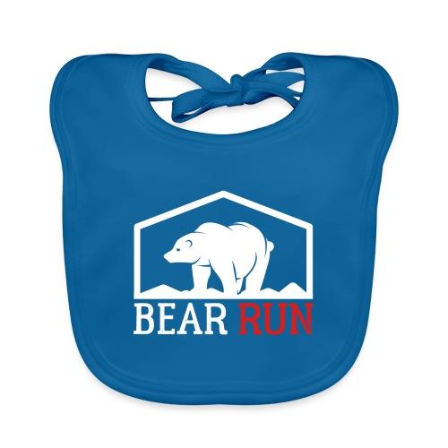 Bear Run Funny Black bear Running - Baby Bio-Lätzchen
