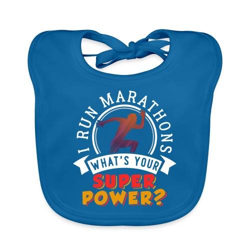 Running Marathons Super Power - Baby Bio-Lätzchen