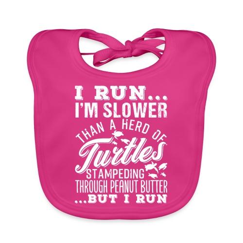 Run Turtles As Fast As We Can - Baby Bio-Lätzchen