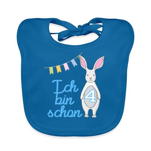 Ich bin schon 4 / Geschenk zum 4. Geburtstag. - Baby Bio-Lätzchen