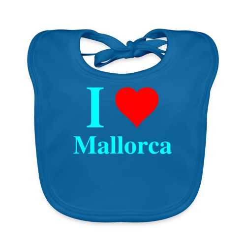 I love Mallorca - aktuelles Design von wirMallorca - Baby Bio-Lätzchen