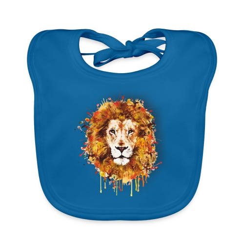 Lion Art - Lion of Judah - Rastafari - Reggae - - Baby Bio-Lätzchen
