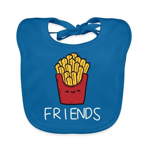 Burger und Pommes Best Friends Partnerlook - Baby Bio-Lätzchen