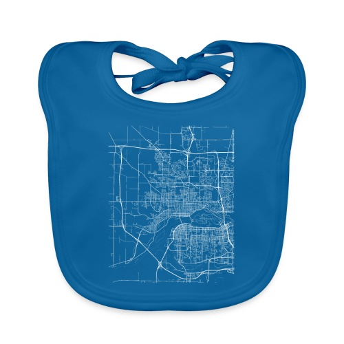 Minimal Davenport city map and streets - Baby Organic Bib