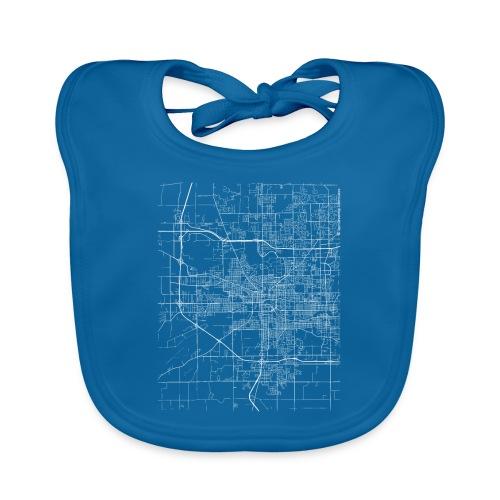 Minimal South Bend city map and streets - Baby Organic Bib