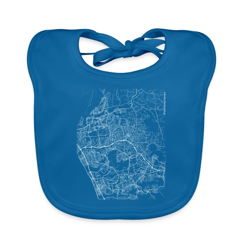 Minimal Vista city map and streets - Baby Organic Bib