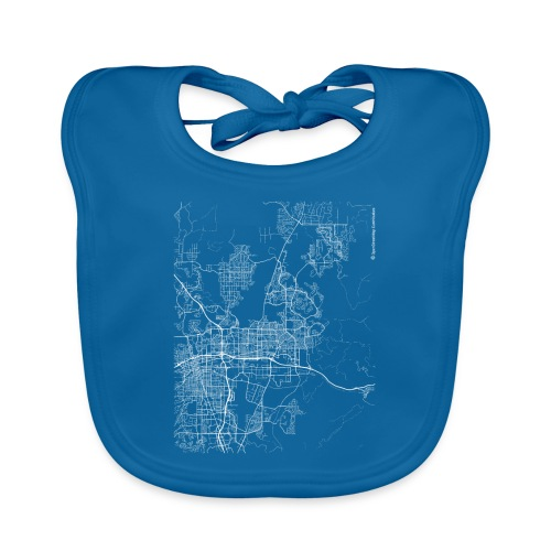 Minimal Sparks city map and streets - Baby Organic Bib