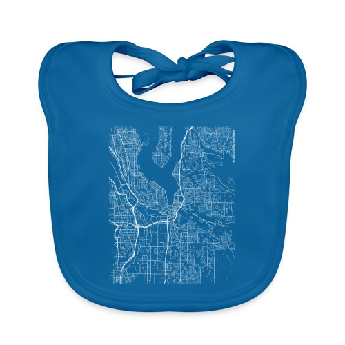 Minimal Renton city map and streets - Baby Organic Bib