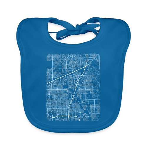 Minimal Allen city map and streets - Baby Organic Bib