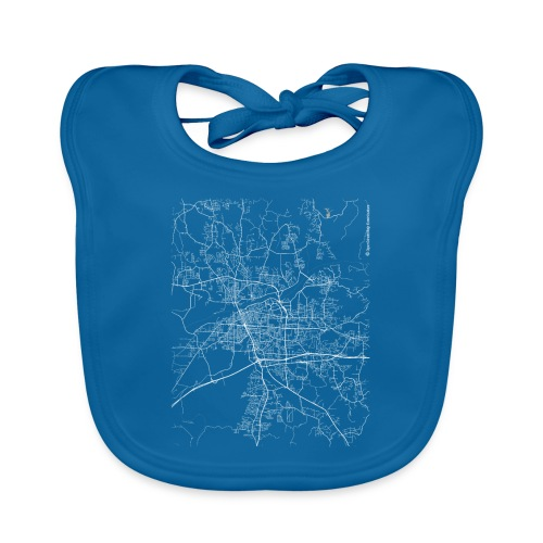 Minimal Tuscaloosa city map and streets - Baby Organic Bib