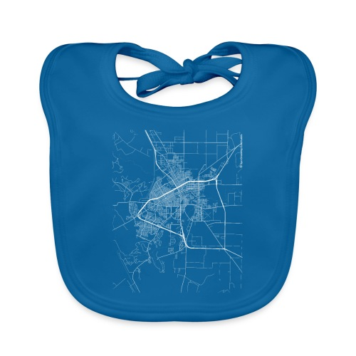Minimal San Angelo city map and streets - Baby Organic Bib