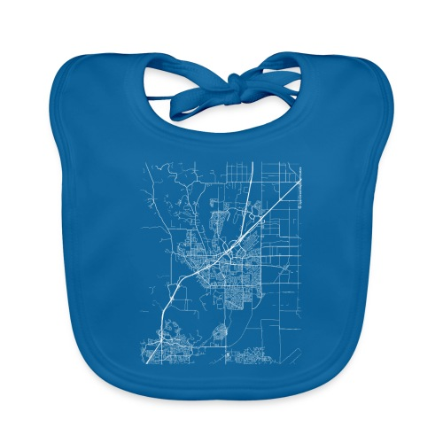 Minimal Vacaville city map and streets - Baby Organic Bib